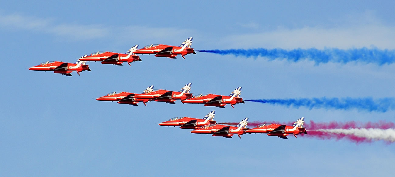 The Red Arrows at Biggin Hill Airshow