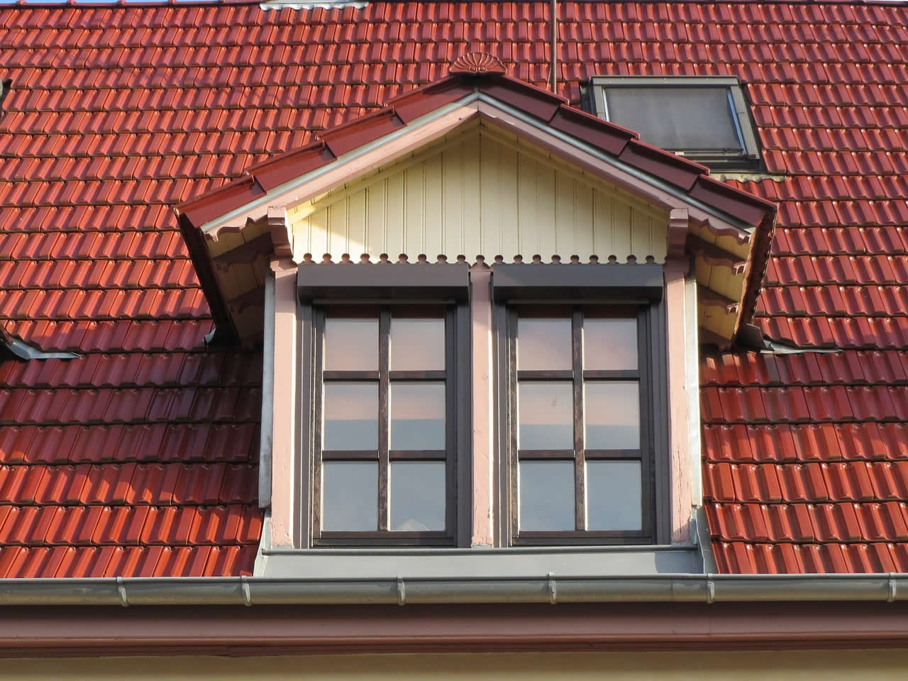A typical dormer window