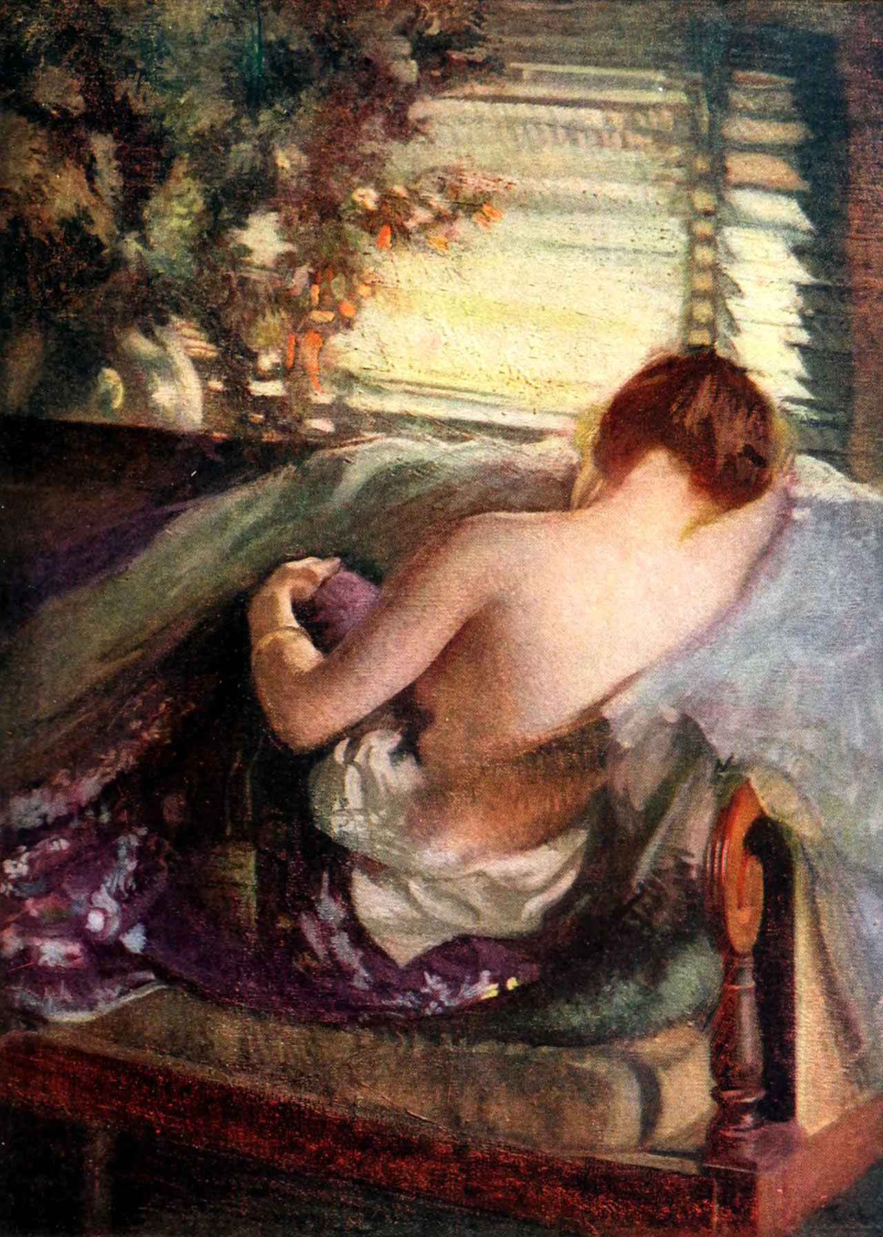 The Venetian Blind painted by Edmund Tarbell