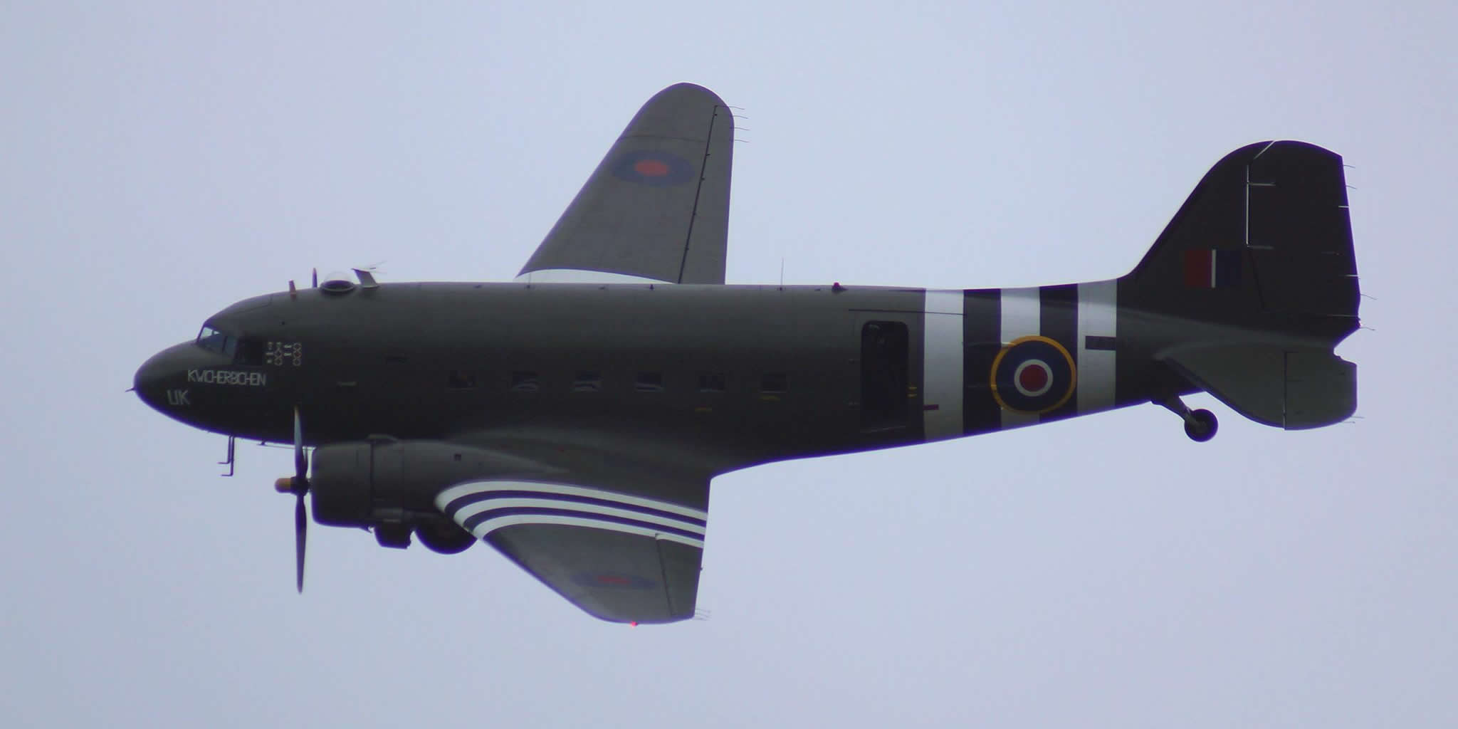 RAF Dakota BBMF appearing at Biggin Hill 2019